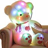 URAKUTOYS ベア ぬいぐるみ LED 熊さん ぬいぐるみ 七色に光る 人形 テディペア プレゼント 贈物 誕生日 歩くクリスマス ぬいぐるみ くま...