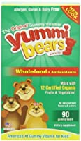 Yummi Bears Wholefood and Antioxidants Gummy Vitamin Supplement for Kids, 90 Gummy Bears