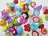 60個セット 手芸用 プラスチック ボタン ミックス 福袋 クリア ハンドメイドパーツ  ヒューイ雑貨