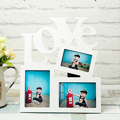 VIEAURA (ヴィオラ)LOVE カップル ご夫婦 フォトフレーム 白 ホワイト 木製 100% 上質