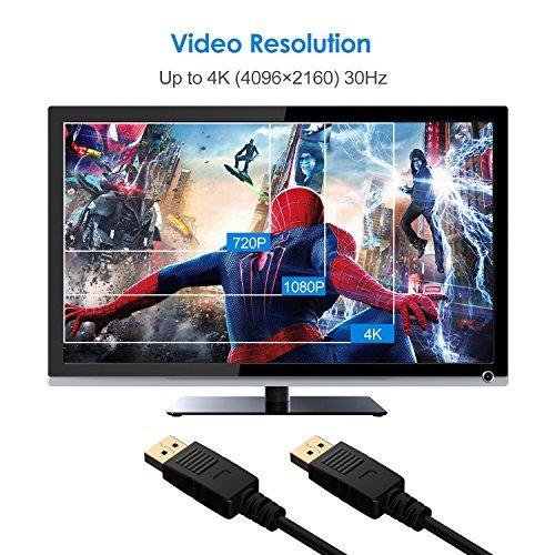 『Rankie DP変換ケーブル 金メッキコネクター搭載 DisplayPort DisplayPort 4K解像度対応 0.9m』の2枚目の画像