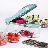 WTYD ホームキッチンツール C323多機能家庭用キッチン野菜カッターダイシングデバイス 家庭用 (色 : Blue)