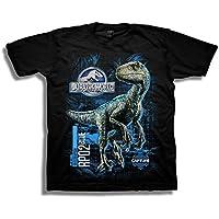 Jurassic World Boys 2 Blue Raptor Grid Short Sleeve T-Shirt Short Sleeve T-Shirt