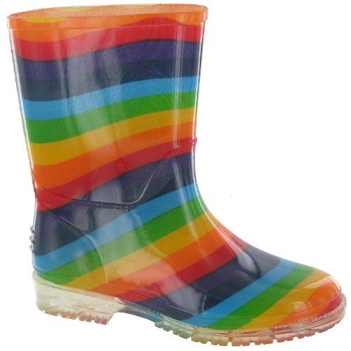 (コッツウォルド) Cotswold キッズ・子供・ジュニア レインボー レインブーツ ポリ塩化ビニール 子供用長靴 レインシューズ ウェリントンブーツ 雨用ブーツ (28 EUR) (虹色)