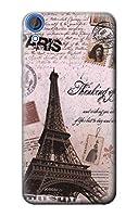 JP2211D82 パリエッフェル塔ポストカード Paris Postcard Eiffel Tower HTC Desire 820 ケース
