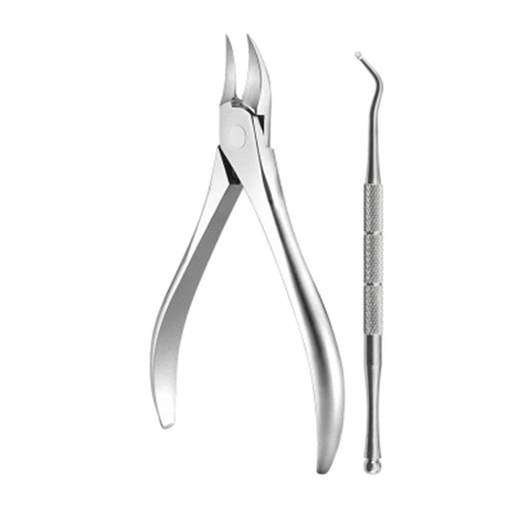ニッパー , ニッパー式 爪切り医療用グレード ステンレス スチール キューティクル リムーバー & カッタ 銀