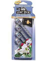 ヤンキーキャンドル カーフレグランススティック(4本入り) スイートピー YANKEECANDLE 車のエアコン部分につけるフレグランスアイテム