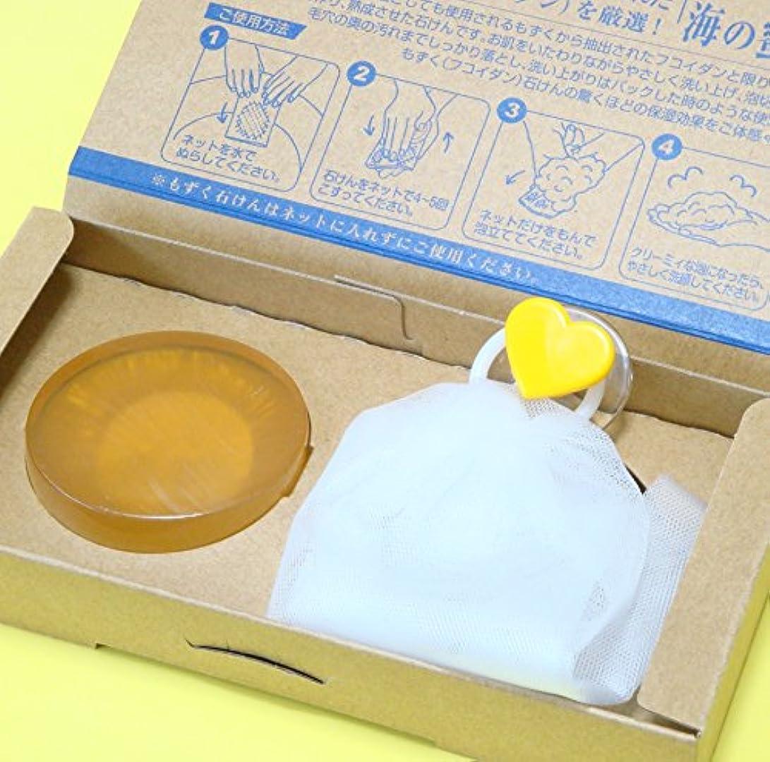白鳥生産性敵対的もずく石けん海の蜜90g×1個入り(泡立てネット付き)