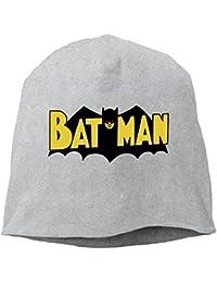 【Dera Princess】 男女兼用 ニット帽 Vintage Batman Logoロゴ コットン ニットキャップ 帽子 オールシーズン 被れる