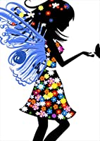 ポスター ウォールステッカー シール式ステッカー 飾り 210×297㎜ A4 写真 フォト 壁 インテリア おしゃれ 剥がせる wall sticker poster pa4wsxxxxx-005587-ds ラブリー 人物 妖精 花