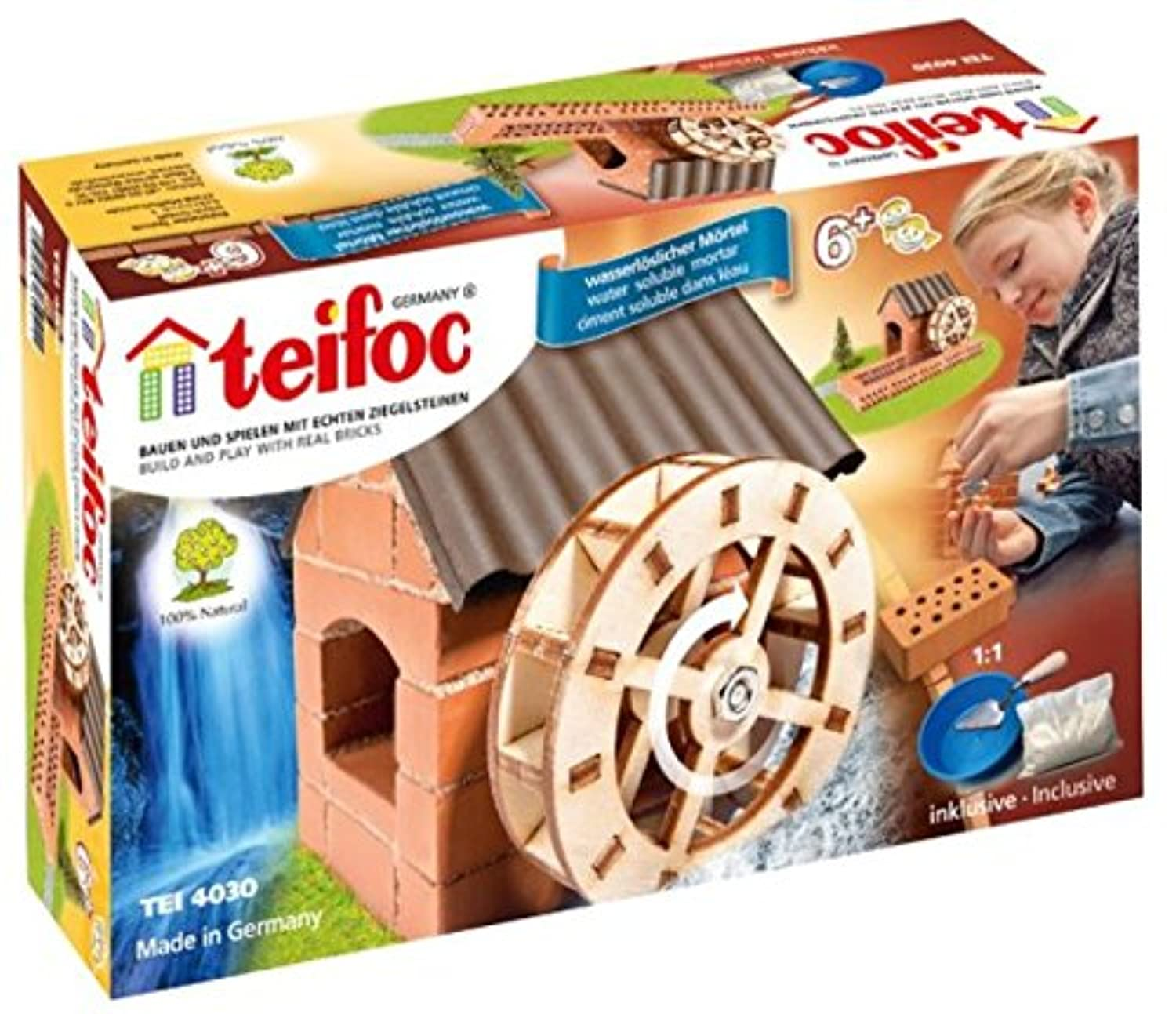 Teifoc 4030 - Watermill - Build with real Bricks & Cement [並行輸入品]