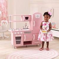 ごっこ遊びキッチンセットand Play Food、ステンレススチールLook蛇口、書き込み用ドライブ、ピンク