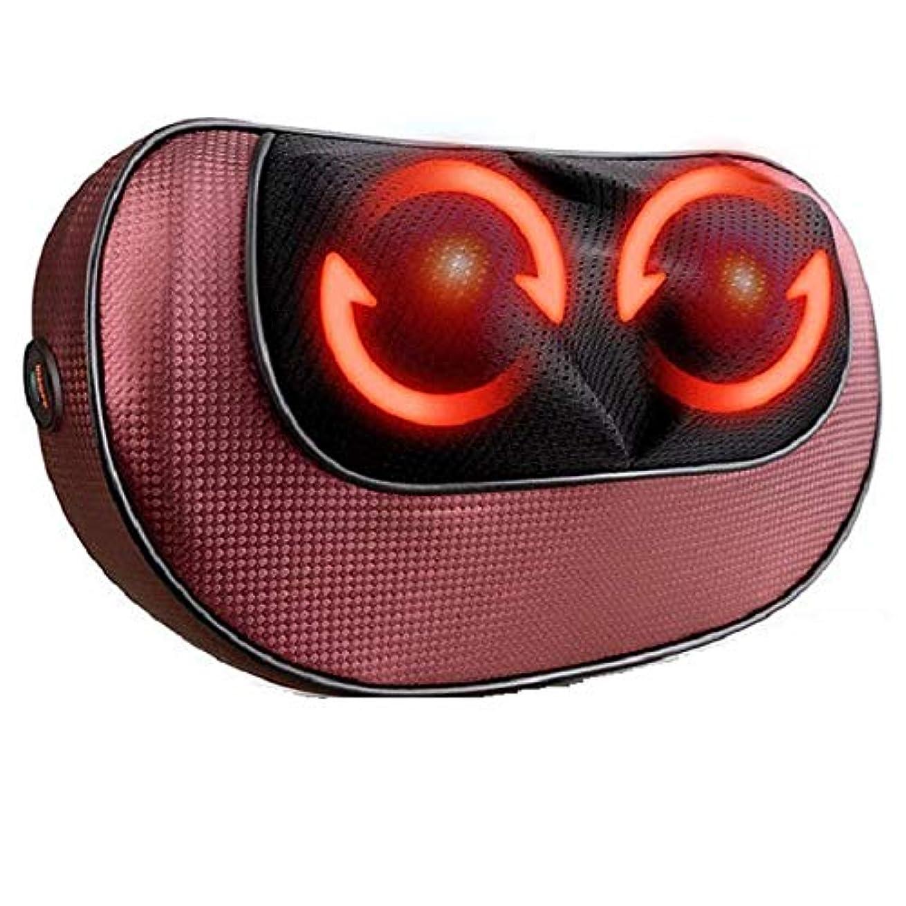 そこから練習低い混練マッサージ枕、多機能家庭用クッションマッサージャー全身電気マッサージャーバックネックマッサージ疲れや痛みを和らげます
