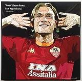 フランチェスコ・トッティ ASローマ 海外製 サッカーグラフィックアート 木製ポスター インテリア