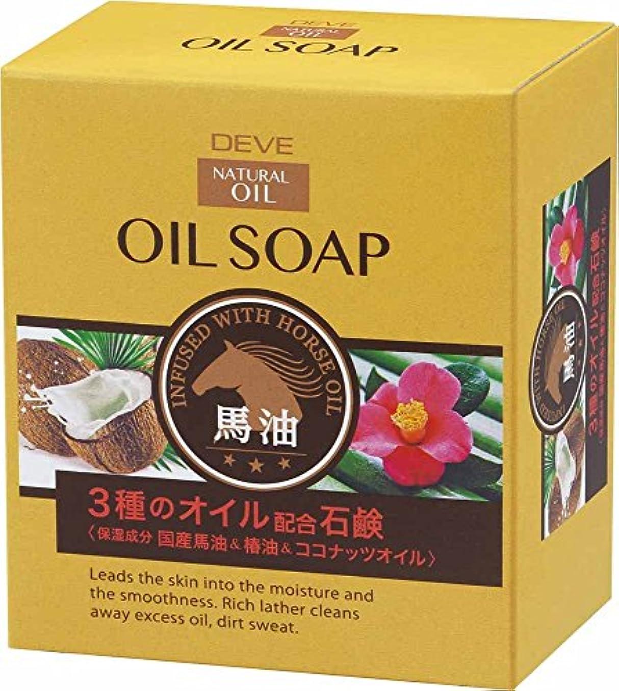 銛うん持続的ディブ 3種のオイルせっけん(馬油?椿油?ココナッツオイル) 100g