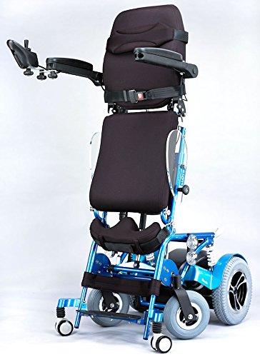 電動直立と電動走行、介護アシストも可能 半自動電動スタンディング車椅子 フォ...