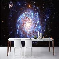 Mzznz 3D写真壁紙ファンタジー星雲ワールプール天井フレスコ画リビングルームの背景壁寝室ホテル壁画Ktvバー壁紙-250X175Cm