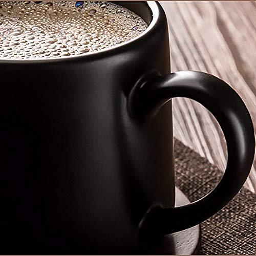 PFLife『木製ソーサー木製スプーン付き高品質セラミックカップ3点セット』