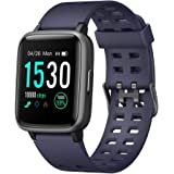 Smart Watch for Android iOS Phone 2019 Version IP68 Waterproof,YAMAY Fitness Tracker Watch with Pedometer Heart Rate Monitor