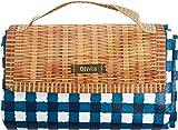 現代百貨 レジャーシート Olivia 150×90cm タータンチェック ブルー