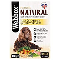 [Webbox] Webbox自然シニア新鮮なチキン&ガーデン野菜400グラム - Webbox Natural Senior Fresh Chicken & Garden Vegetables 400g [並行輸入品]