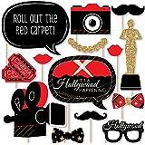 Big Dot of Happiness レッドカーペット ハリウッド - ムービーナイトパーティー フォトブース小道具キット - 20個