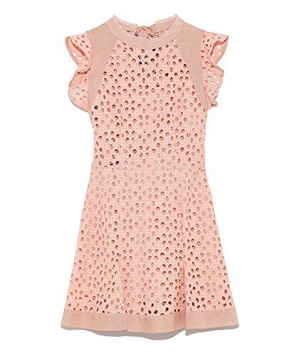 (リリーブラウン)Lily Brown カットワーク刺繍ロンパース