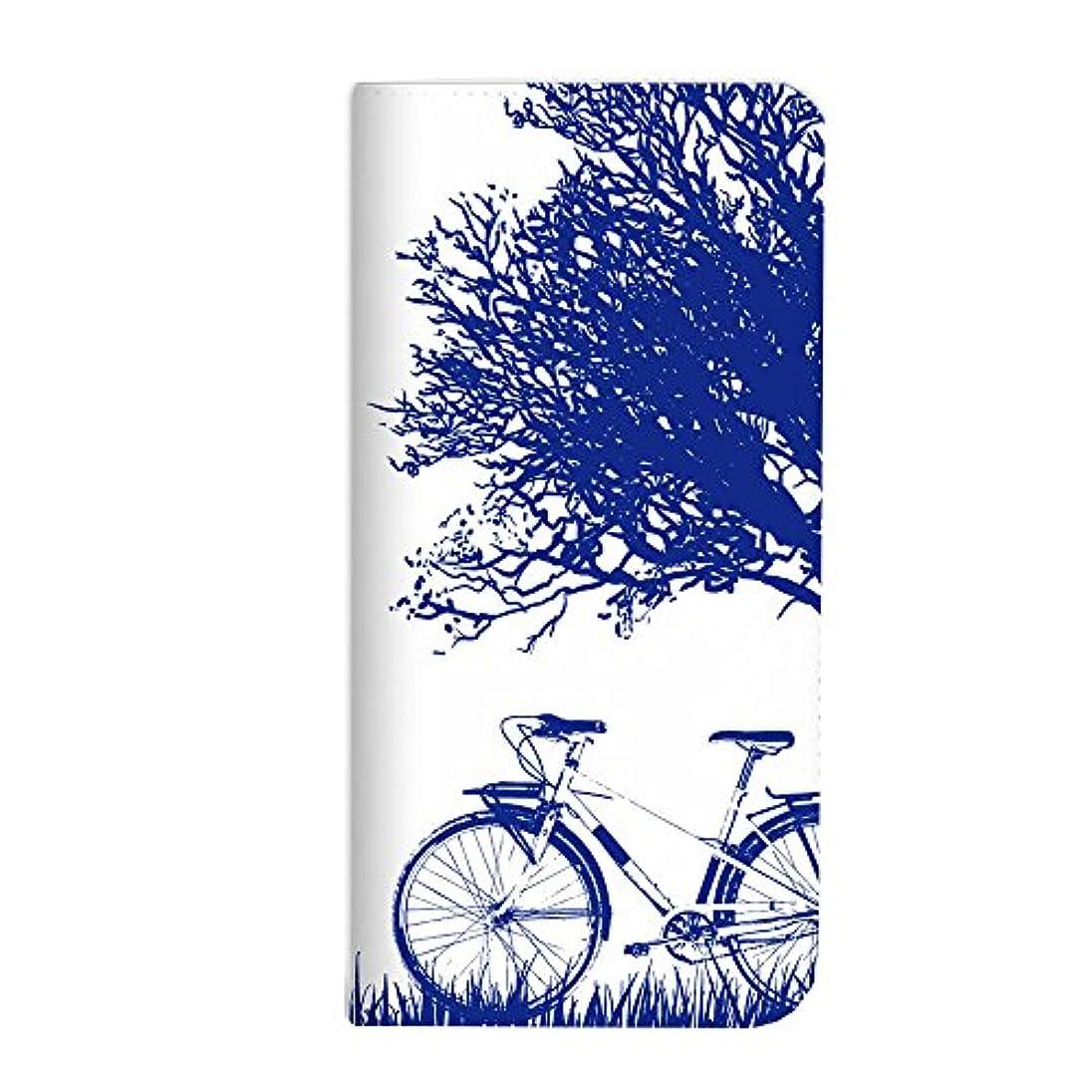 ほぼ思いつく許すmitas Galaxy S8 Plus SCV35 ケース 手帳型 ベルトなし 自転車 サイクリング ブルー (342) NB-0213-BU/SCV35