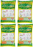 常陆化工 小粒猫砂 绿色6升 × 4个 ( 整箱贩卖 )