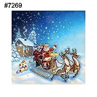 ruixuered-クリスマスサンタクロースクロスステッチ刺繍DIYの装飾部分的なダイヤモンド絵画 - 7269 5Dダイヤモンドアート