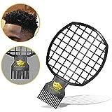 Magic Twist Hair Coils Comb Tool, Afro Pick Hair Curl Sponge Brush (Black) [並行輸入品]