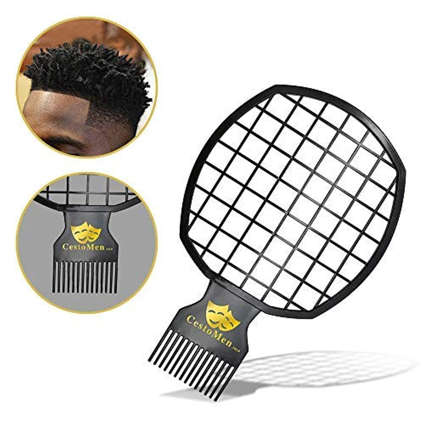 国どんよりしたひばりMagic Twist Hair Coils Comb Tool, Afro Pick Hair Curl Sponge Brush (Black) [並行輸入品]