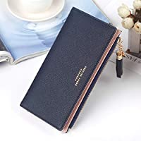 女性の大容量レザークラッチ財布ジッパー財布女性のタッセルペンダントリストストラップレディクラッチバッグカードホルダーオーガナイザーレディース財布(カラー:ブラック)