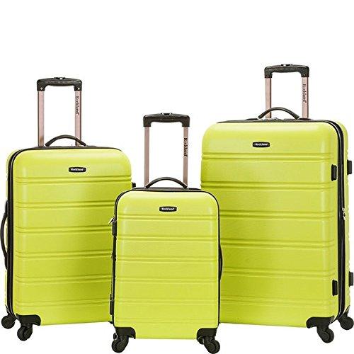 ロックランド バッグ スーツケース Melbourne 3-Piece Hardside Spinner Lugga Lime [並行輸入品]