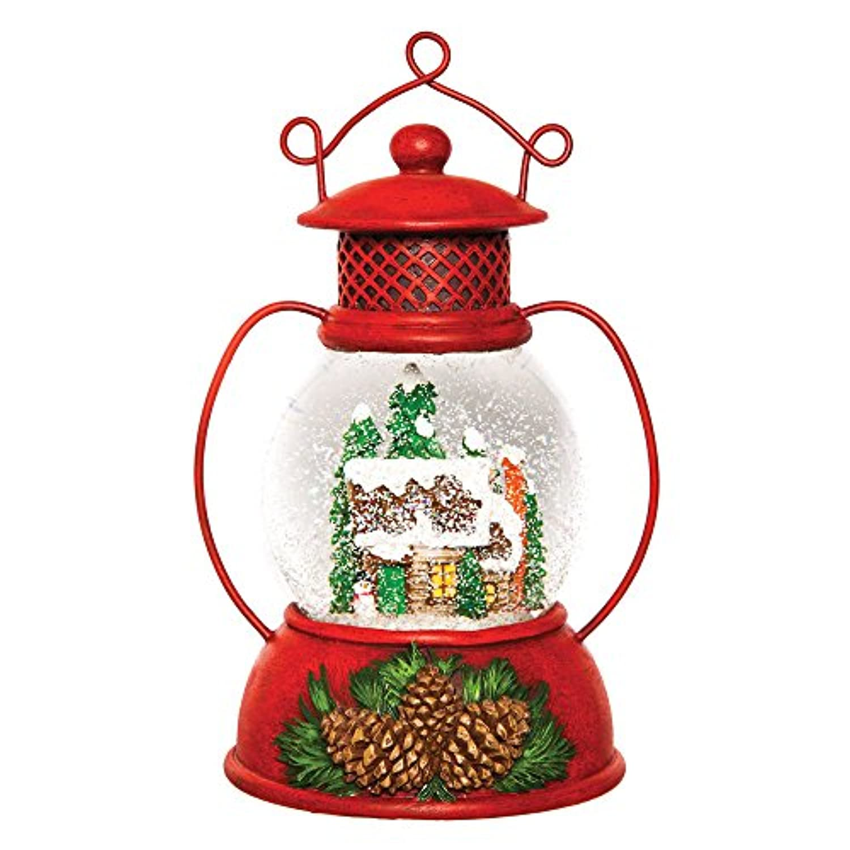 Rustic Lantern Musical Glass Water Globe