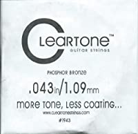 [Cleartone] クリアトーン アコースティック・ギター弦 バラ弦 .043