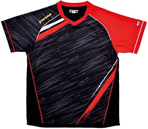 VICTAS V-SW036 ゲームシャツ XXO レッド 1枚