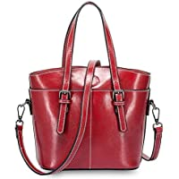 Wsw Simple Multi-Function Large Capacity Shoulder Bag Shoulder Slung Leather Handbag Gorgeous Fashion (Color : Red)