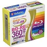 三菱ケミカルメディア Verbatim くり返し録画用 BD-RE DL VBE260NP10V1 (片面2層/1-2倍速/10枚)