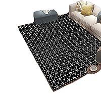 ラグ マット ラグマット 洗える 夏用 北欧 120×160 絨毯 グレー ブラック おしゃれ 西海岸 リビング用 居間用 幾何 長方形 センターラグ 120×160 140×160 黒い ホットカーペット対応