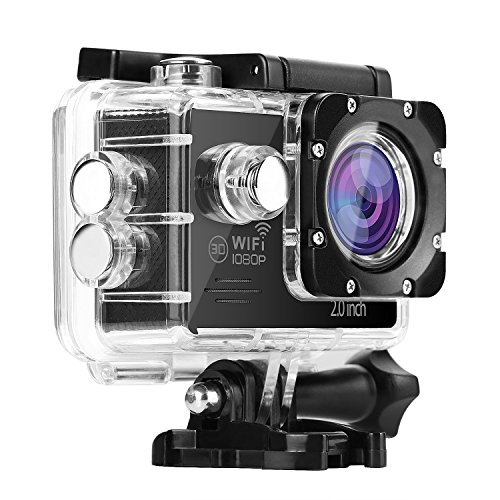 lvshanスポーツカメラ、アクションカメラ、1080P画質、2.0インチディスプレイ 、30m防水、 170度広角レンズ 、SDカードを支持します、防水Wi-Fiスポーツカメラ、ワイヤレスカメラ、 SPORTS CAMERA