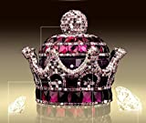 Mini-Factory 3D Bling Crystal Gemstone Diamond Purple Crown Design Refillable Glass Air Freshener Perfume Bottle for Car/Home/Office Decoration (Bottle Only%カンマ% Perfume NOT included) [並行輸入品]