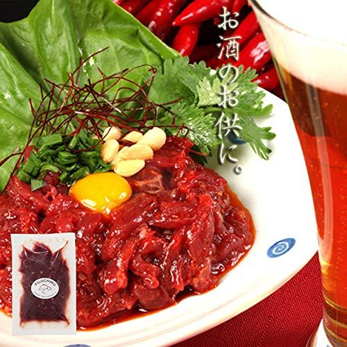 国産馬刺しユッケ 50g×10P ユッケのたれ5袋付 フジチク ビール、焼酎、日本酒等の肴に