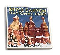 Bryce Canyon National Park # 2冬 4 Coaster Set LANT-20907-CT