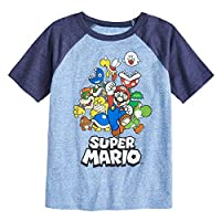 Jumping Beans Boys 4-12 Nintendo Super Mario Bros. Rad Raglan Graphic Tee