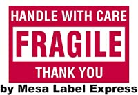 Mesa Label Express? 2 x 3 - Fragile - Handle with Care Shipping Labels (500 per Roll) [並行輸入品]