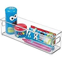 mDesign Baby Nursery Storage Organizer Bin for Baby Toys Bath Toys - 4 x 4 Clear [並行輸入品]