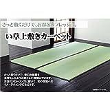 純国産 日本製 双目織 い草上敷き 本間6畳(約286×382cm) 【デザイン家具】
