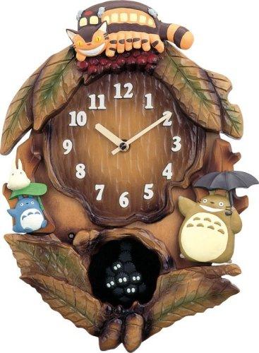 リズム時計 となりのトトロ 掛け時計 トトロM837N 4MJ837MN06