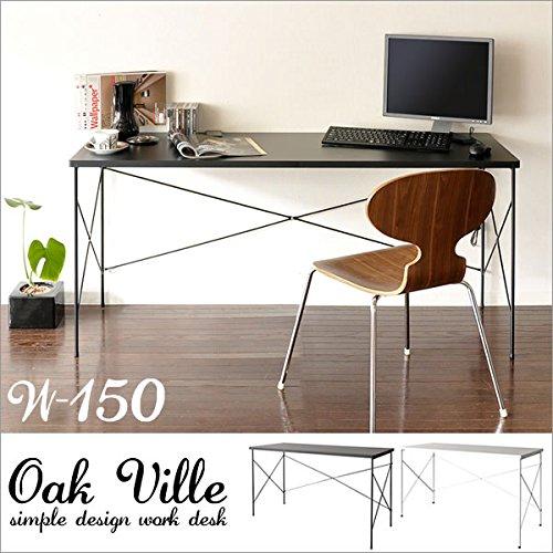 ワークデスク Oak ville【オーク ビル】幅150cm( デスク 机 パソコンデスク ライティングデスク テーブル カフェテーブル ) ブラック